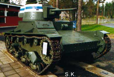 Vickers 6 ton tank, in Finnish markings and 37 mm Bofors gun